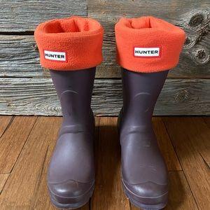 Hunter original short rain boot ☔️ & socks